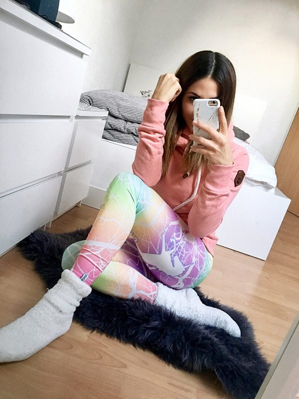 PUPPETRY Tights, Einhorn Unicorn Leggings blickdicht und high-waist