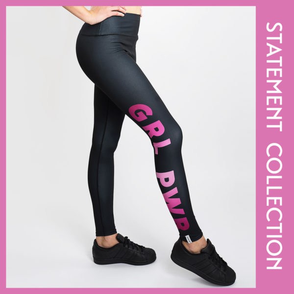 GRL PWR TIGHTS Leggings Puppetry Statement Hose Gymoutift Yogaoutfit