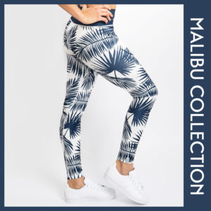 Palmen Leggings Tights Yoga Hose Malibu Palmen
