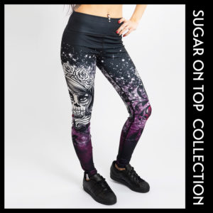 Sugar Skull Girl Tights Leggings
