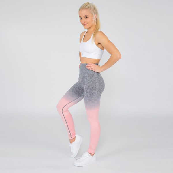 PUPPETRY High Waist Ombre Leggings Tights peach grau