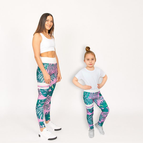 Mutter Kind Partnerlook Outfit Leggings Puppetry