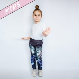 Kinder Leggings mit Skull Girl Print - Partnerlook Mutter Kind